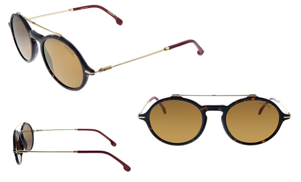 Carrera CA Car a195 Havana Plastic Round Sunglasses Brown Lens