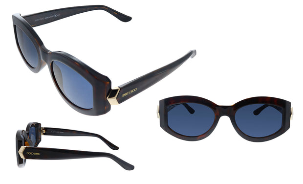 Jimmy Choo JC ROBYN/S 086 KU Oval Sunglasses