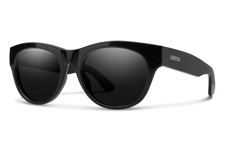 Smith SOPHISTICATE BLK POL Round Sunglasses