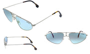 Carrera CA Carr a102 Palladium Metal Pilot Sunglasses Blue Mirror Lens