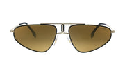 Carrera CA Carr a102 Gold Metal Pilot Sunglasses Brown Mirror Lens