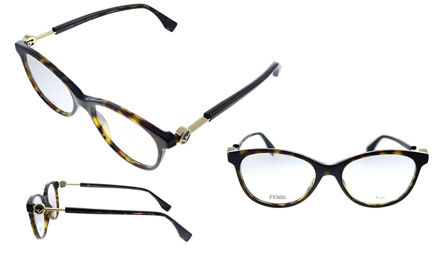Fendi FF 0347 086 52 Oval Eyeglasses
