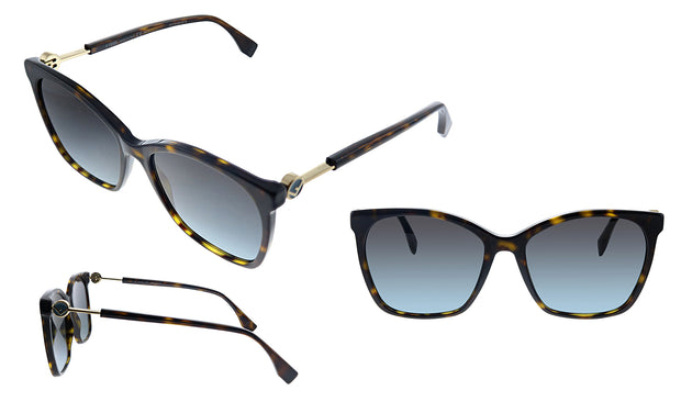 Fendi FF 0344/S Rectangle Sunglasses