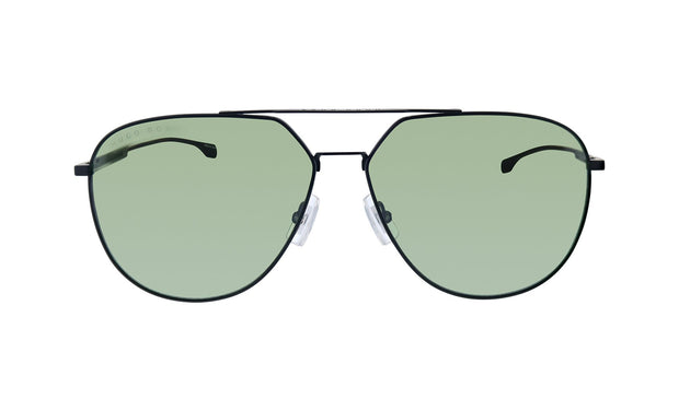 Hugo Boss BOSS 0994 /F/S Matte Black Metal Aviator Sunglasses Green Lens