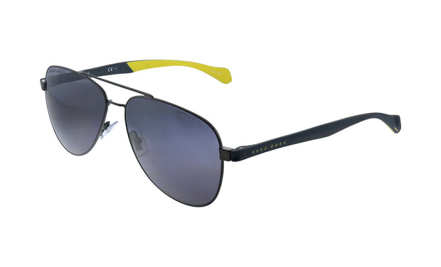 Hugo Boss BOSS 1 /S_S Black Metal Aviator Sunglasses Gray Cp Pz Lens