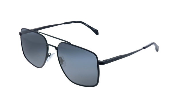 Hugo Boss BOSS 1 /S_0 Matte Black Metal Aviator Sunglasses Grey Blue Lens