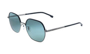 Hugo Boss BOSS 1 /F/S Dark Ruthenium Metal Rectangle Sunglasses Green Lens