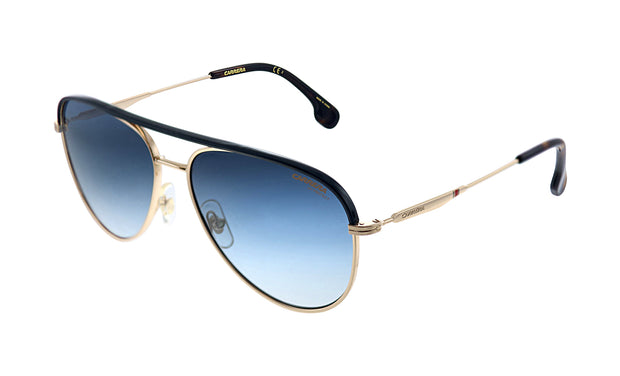 Carrera CA Car a209 Gold Metal Pilot Sunglasses Blue Gradient Lens