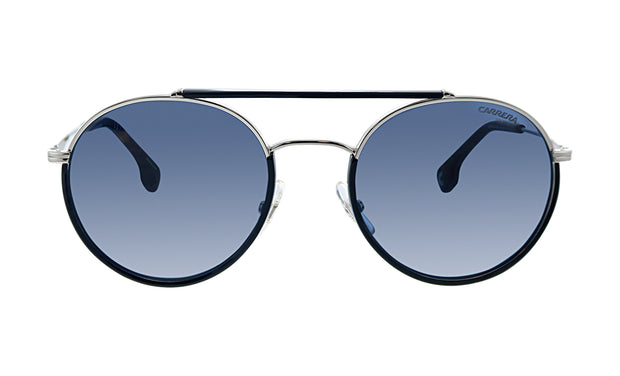 Carrera CA Car a208 Black Metal Oval Sunglasses Blue Lens