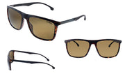 Carrera CA Car a803 Havana Plastic Rectangle Sunglasses Brown Lens