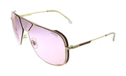 Carrera CA CAR ALEN Gold Metal Pilot Sunglasses Pink Lens