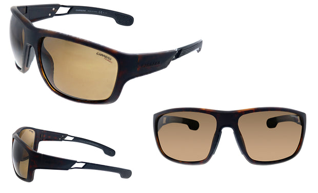 Carrera CA Car a400 Black Plastic Wrap Sunglasses Brown Polarized Lens