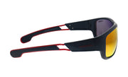 Carrera CA Car a400 Black Plastic Wrap Sunglasses Red Mirror Lens