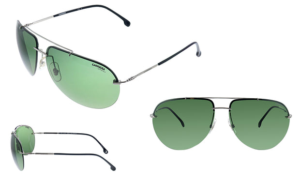 Carrera CA Car a149 Ruthenium Metal Pilot Sunglasses Green Lens