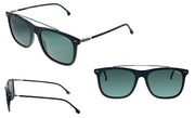 Carrera CA Car a150 Matte Black Plastic Rectangle Sunglasses Green Lens