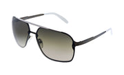 Carrera CA Car a91 Black Metal Pilot Sunglasses Grey Gradient Lens