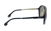 Carrera CA Car a100 Black Plastic Pilot Sunglasses Grey Lens