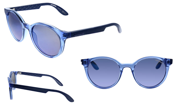 Carrera CA CAR INO1 Blue Plastic Round Sunglasses Blue Mirror Lens
