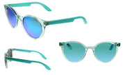 Carrera CA CAR INO1 Green Plastic Round Sunglasses Green Polarized Lens