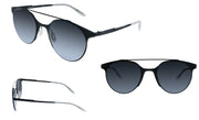 Carrera Carrera 115/S 003 Matte Black Round Metal Sunglasses