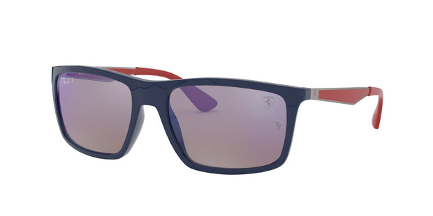 Ray-Ban Ferrari 0RB4228M Polarized Rectangle Sunglasses