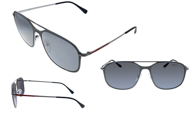 Prada Linea Rossa PS 53TS 7CQ2F2 Rectangle Sunglasses