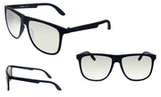 Carrera CA Car a500 Matte Black Plastic Rectangle Sunglasses Silver Mirror Lens