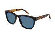Barton Perreira Coltrane Matte Black Amber Tortoise Rectangle Sunglasses
