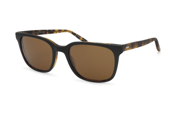 Barton Perreira Joe Matte Black Amber Tortoise Rectangle Sunglasses