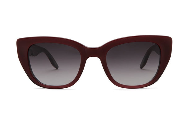 Barton Perreira Kalua Oxblood Rectangle Sunglasses