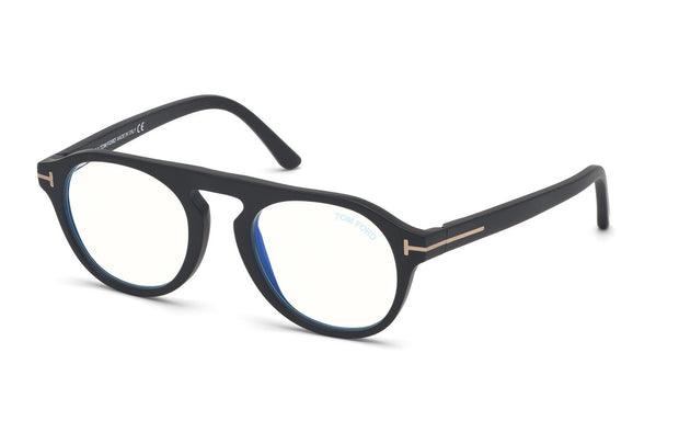Tom Ford FT5533-B 02A Round Optical Frames