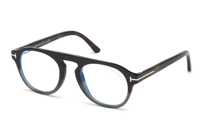 Tom Ford FT5533-B 55N Round Optical Blue Block Frames