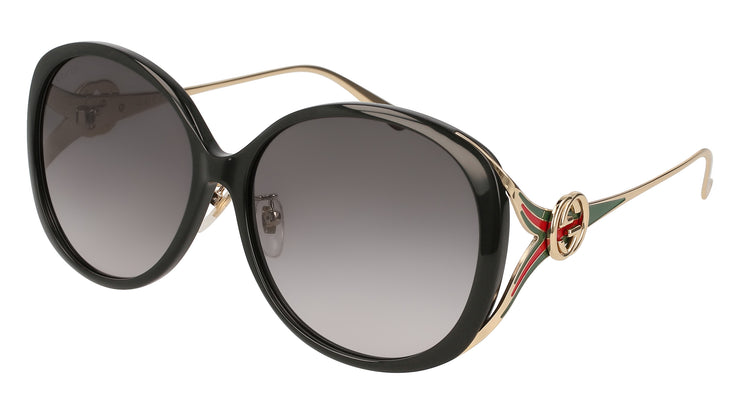 Gucci GG0226/S/K W Women's Oval Sunglasses
