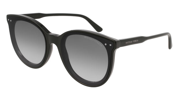 Bottega Veneta BV0165S-001 Women's Round Sunglasses