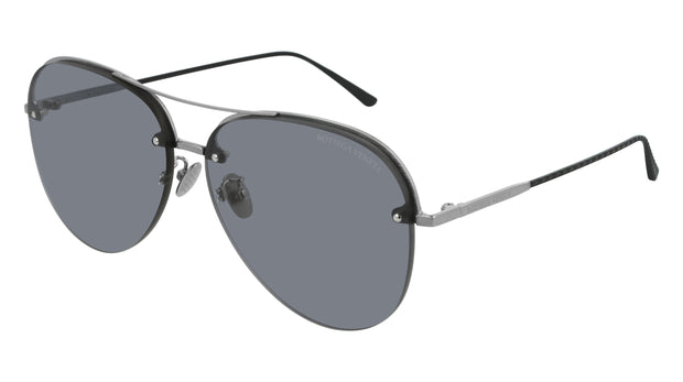 Bottega Veneta BV0206S-001 Aviator Sunglasses