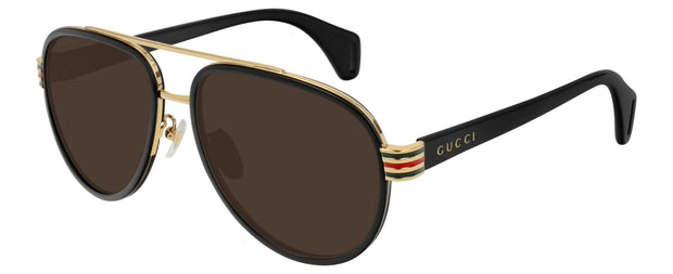 Gucci 0447 Men's Aviator Sunglasses