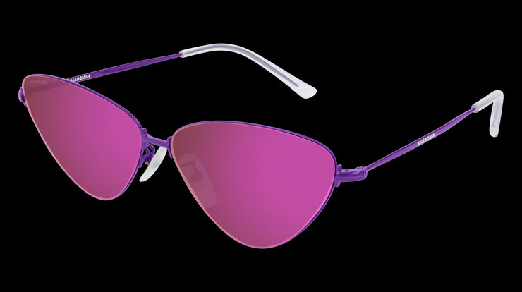 Women's Balenciaga BB0015S Purple Cat-Eye Sunglasses