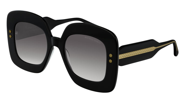 Bottega Veneta BV0237S-001 Rectangle Sunglasses