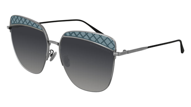 Bottega Veneta BV0250S-001 Women's Rectangle Sunglasses