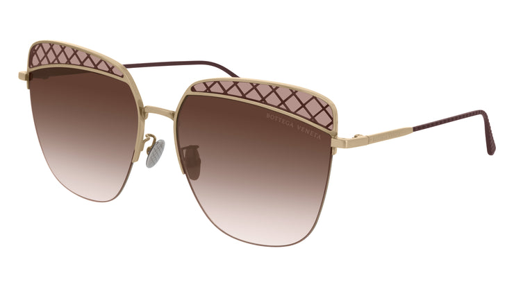 Bottega Veneta BV0250S-002 Rectangle Sunglasses
