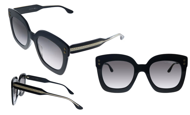 Bottega Veneta BV0238S-001 Rectangle Sunglasses