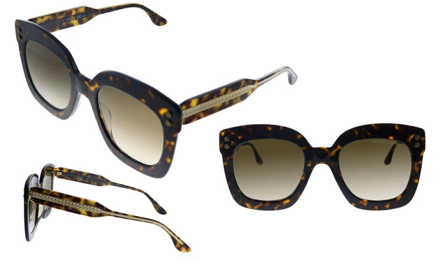 Bottega Veneta BV0238S-002 Women's Rectangle Sunglasses