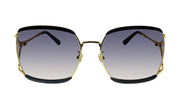 Gucci GG 0593SK 001 Rectangular / Square Sunglasses