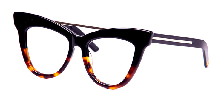 FUBU Frames Empire Black and Tortoise Cat Eye Eyeglasses