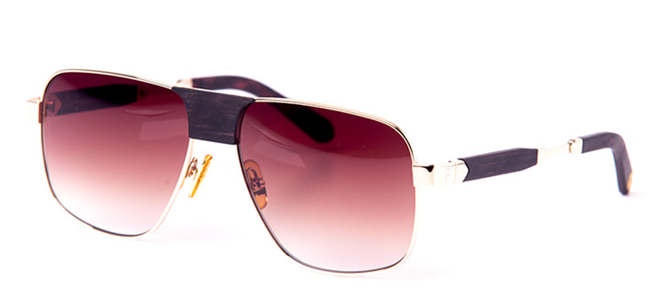 FUBU Frames Warren Mahogany Square Sunglasses
