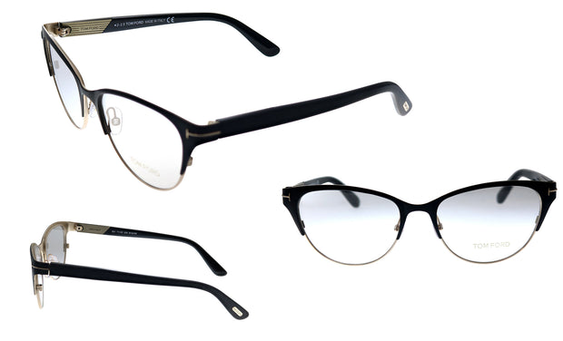 Tom Ford FT 5318 002 Cat-Eye Eyeglasses