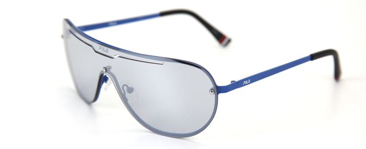 Fila SF9981 Shiny Blue Shield Sunglasses
