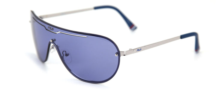 Fila SF9981 Shiny Silver Shield Sunglasses