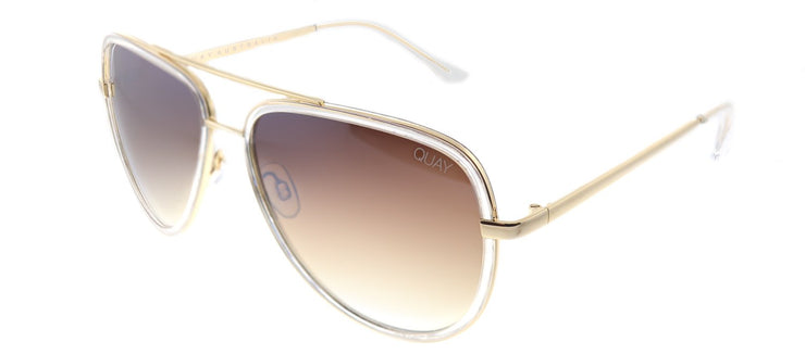Quay Australia QM Allin CLR/BRNFLS Aviator Sunglasses