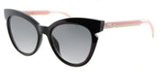 Fendi Lines FF 0132 N7A Black And Crystal Pink Cat-Eye Plastic Sunglasses